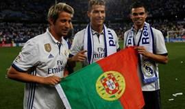 Festa do Real Madrid: a foto portuguesa e Zidane no ar