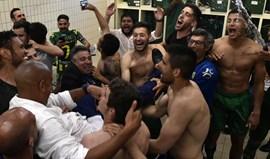 No balneário do Tondela houve festa rija