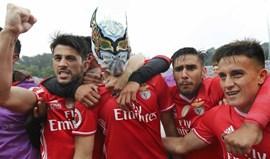 A máscara que Jiménez usou nos festejos e que surpreendeu o Jamor