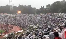 Momento arrepiante no Jamor: Adeptos do V. Guimarães dão espetáculo apesar da derrota