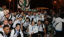 Campeões da Taça Challenge recebidos em festa