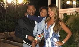 Nani de férias com a família na Sardenha