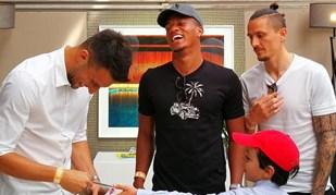 Samaris, Carrillo e Fejsa muito animados no Estoril Open