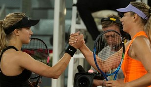 Bouchard aniquilou Sharapova só com o olhar