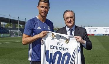 400 golos por um só clube: Ronaldo entra numa lista com... dois portugueses