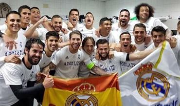 Assim foi a festa no balneário do Real Madrid