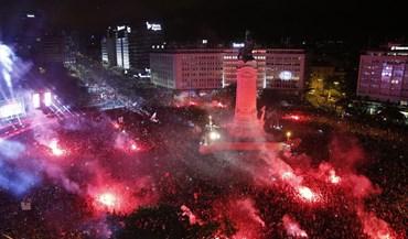 Veja como foi a festa dos adeptos do Benfica pelo país fora
