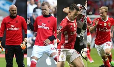 Os quatro derradeiros campeões pelo Benfica