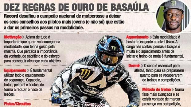 Lembra-se de Basaúla? O filho é campeão de motocrosse e conta os seus 10 segredos