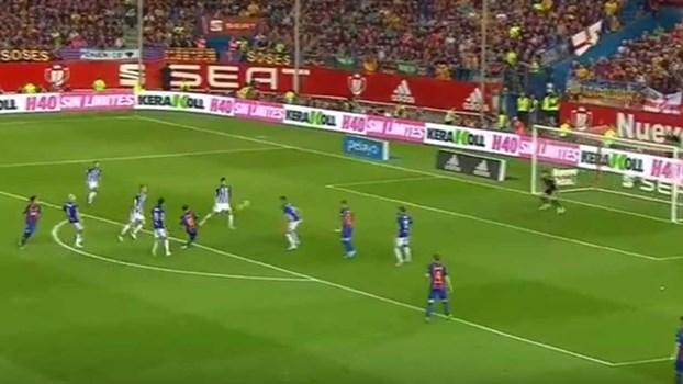 Um golo tremendo para qualquer um... mas normal para Messi