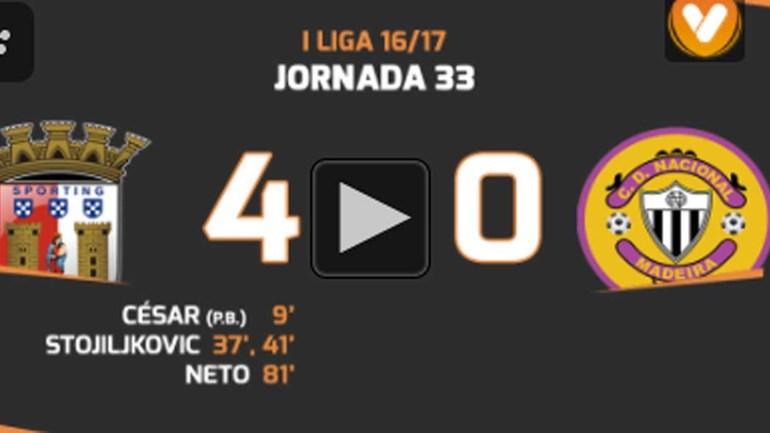 Os melhores momentos do Sp. Braga-Nacional (4-0)