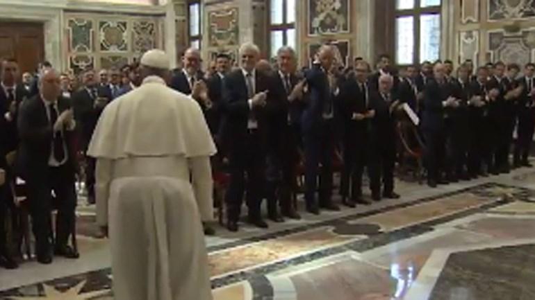 Juventus e Lazio recebem bênção do Papa Francisco