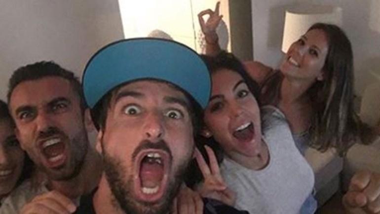 Georgina celebrou título do Real Madrid com os amigos de Ronaldo