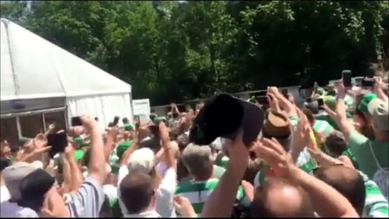 Estádio Nacional está pintado de... verde e branco