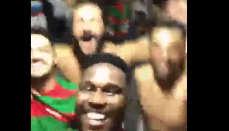 A festa do Marítimo no balneário após carimbar passaporte para a Liga Europa