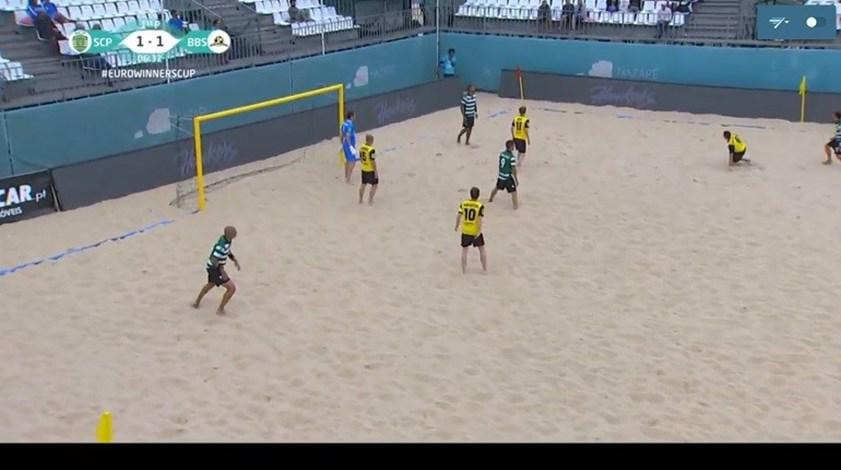 Futebol de praia ao vivo