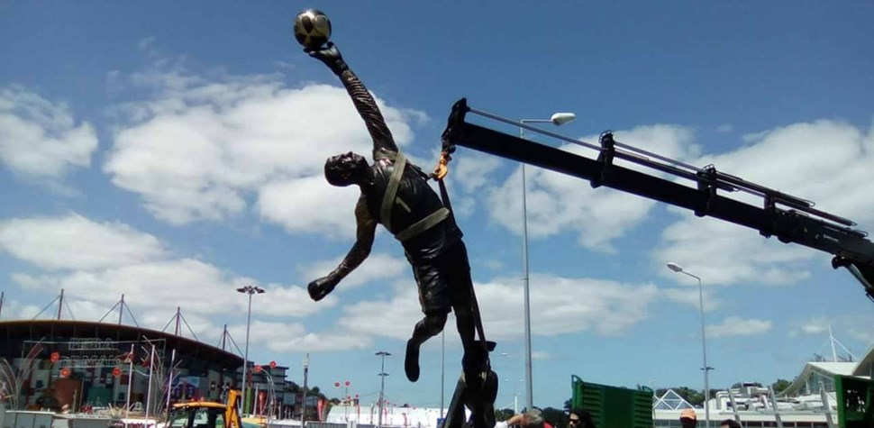 A estátua de Rui Patrício em Leiria