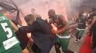 Jogadores do Panathinaikos atacados em casa do Olympiacos