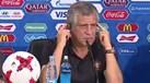 Foi assim que Fernando Santos reagiu quando lhe pediram para responder em inglês