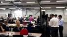 Assim está a zona de imprensa da Kazan Arena a duas horas do Portugal-Chile