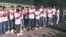 Equipa de futsal do Sporting recebida em euforia em Alvalade
