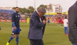 Fernando Santos acendeu um cigarro mal acabou o jogo no Estoril