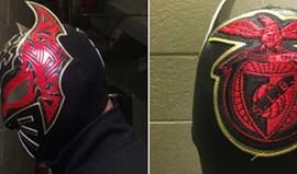 Sin Cara com máscara em honra do Benfica e de Jiménez