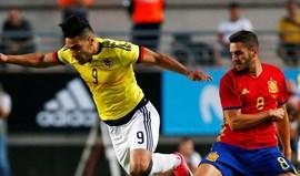 Colômbia empata em Espanha com um golo de Falcão