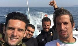 Coentrão foi à pesca antes de rumar a Alvalade