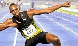 Usain Bolt corre os 100 metros da etapa do Mónaco da Liga Diamante