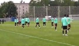 Os malabarismos de Ronaldo no treino da Seleção Nacional