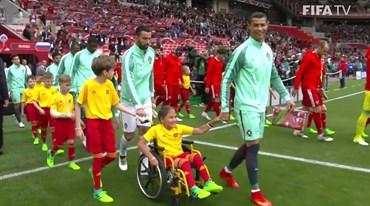 O sorriso da pequena Polina diz tudo após este gesto de Ronaldo