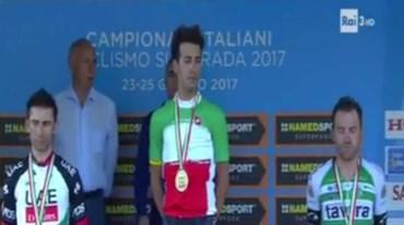 Rinaldo Nocentini sobe ao pódio nos Nacionais italianos de ciclismo de estrada
