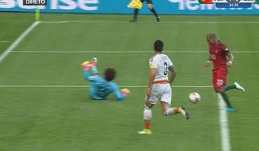 Grande passe de Ronaldo e Quaresma a marcar com esta 'maldade'