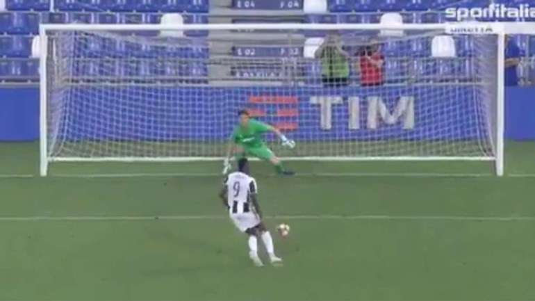 Moise Kean tenta penálti 'à Panenka' e afasta Juventus da final
