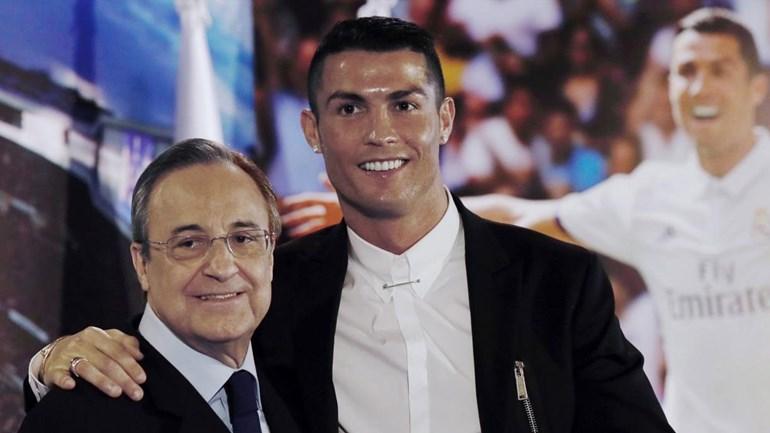 Florentino Pérez teme ver oferta de 200 milhões por Ronaldo para não cair em tentação