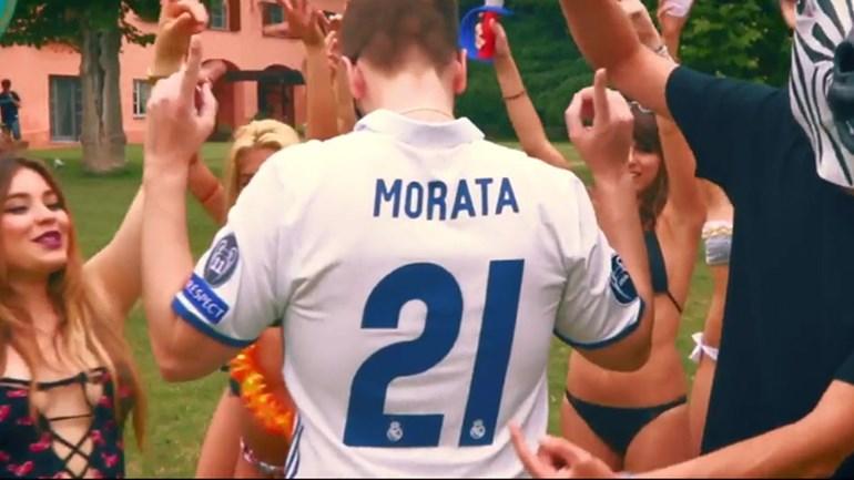 Morata teve direito a uma música como prenda de casamento