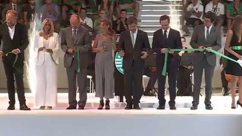 O momento em que o Pavilhão João Rocha foi inaugurado