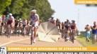 Guarda-sol provoca o caos no Tour'2017