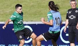Acuña realizou primeiros treinos na Academia Sporting