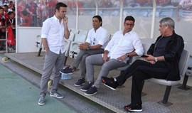 Vieira assistiu ao jogo