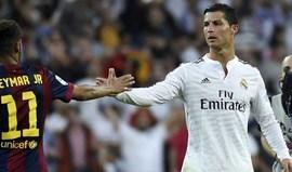 Ronaldo deu um conselho 'prático' a Neymar a propósito do interesse do PSG...