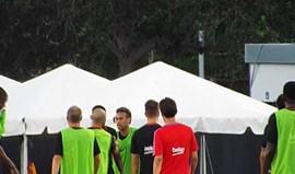 Neymar e Nélson Semedo pegaram-se no treino... e não foi bonito