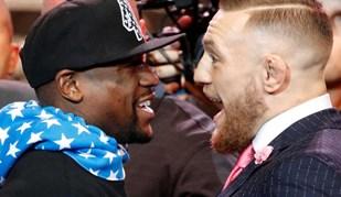 Combate já aquece: Até no fato McGregor provoca Mayweather