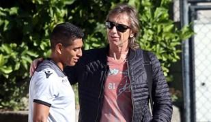 Hurtado recebeu uma visita especial no treino do V. Guimarães