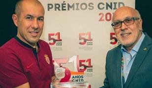Leonardo Jardim recebeu prémio do CNID