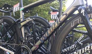 Bicicleta de Peter Sagan na partida para a 5.ª etapa do Tour