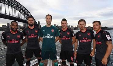 Terá sido o Benfica inspiração para este equipamento do Arsenal?