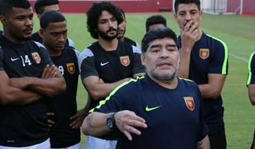 Equipa de Maradona já trabalha no duro