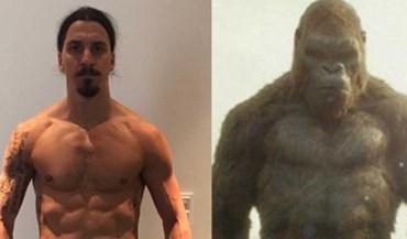 Ibrahimovic cria uma nova versão de... King Kong